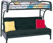 C Style Twin Over Full Futon Bunk Bed 2253K