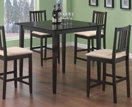Cappuccino Finish 5 Piece Counter Height Dining Set 150111
