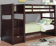 Cappuccino Finish Twin Bunk Bed 460441