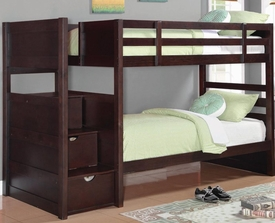 Cappuccino Finish Twin Bunk Bed