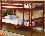 Cherry Finish Twin Over Twin Bunk Bed 460221