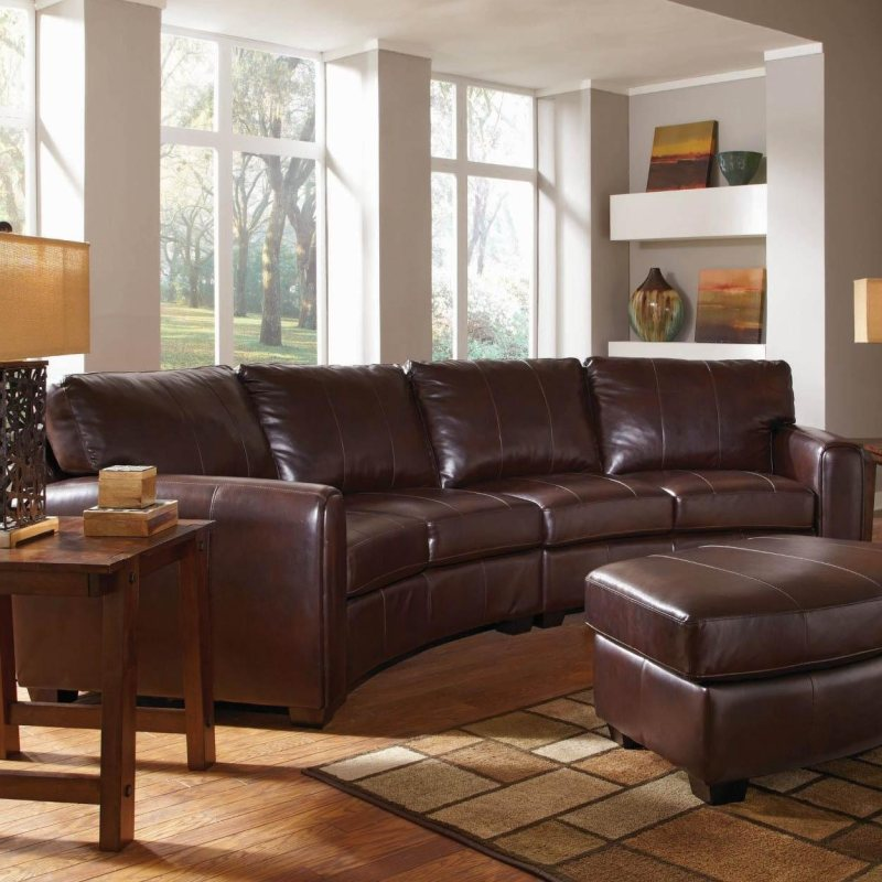 Leather Sofa Wholesalers Uk: Dark Brown Bonded Leather Curved Sofa Sectional By Coaster