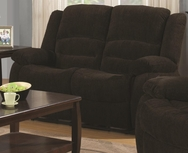 Dark Brown Chenille Upholstered Reclining Love Seat 601462