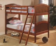 Dark Pine Finish Twin Over Twin Bunk Bed 460203