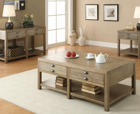 Driftwood Finish Occasional Collection by Coaster Furniture 701950SET - Dallas Fort Worth