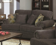 Grey Chenille Fabric Upholstered Love Seat 504402