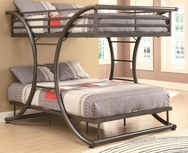 Gunmetal Finish Full-over-Full Bunk Bed 460078