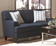 Love Seat in Blue Linen Upholstery 504322
