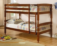 Medium Pine Finish Twin Over Twin Bunk Bed 460223