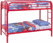 Metal Twin Over Twin Bunk Bed with Built-In Ladders 2256R
