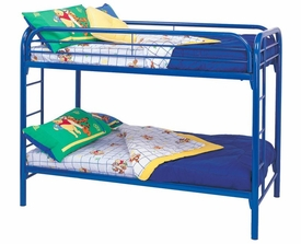 Metal Twin Over Twin Bunk Bed with Built-In Ladders