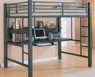 Metal Workstation Full Loft Bed 460023