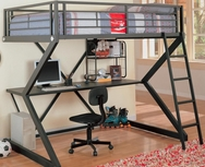 Metal Workstation Full Loft Bed 460092