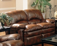 Overstuffed Pillow Style Dual Reclining Love Seat 600332