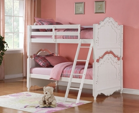 Pearl White Finish Bunk Bed