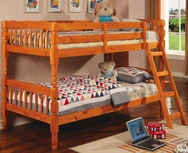 Pine Finish Twin Bunk Bed with Ladder 5040