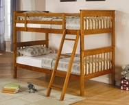 Pine Finish Twin Over Twin Bunk Bed 460233