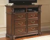 Rich Brown Finish Media Chest