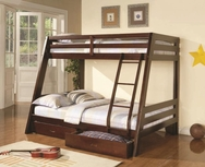 Rich Cappuccino Finish Twin-over-Full Bunk Bed 460228