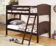 Rich Cappuccino Finish Twin Over Twin Bunk Bed 460213