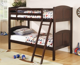 Rich Cappuccino Finish Twin Over Twin Bunk Bed