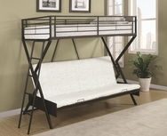 Sandy Black Metal Convertible Futon Loft Bed 460020