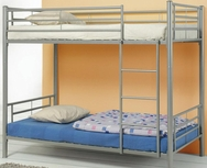 Silver Metal Finish Twin over Twin Bunk Bed 460072
