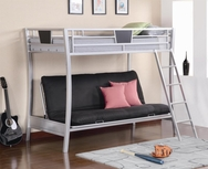 Sleek Metal Futon Bunk Bed 460024