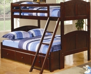 Twin Over Full Panel Bunk Bed with Under Bed Storage Unit 460212