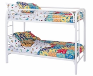Metal Twin Over Twin Bunk Bed with Built-In Ladders 2256W