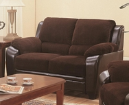 Two-Toned Loveseat with Wood Feet 502812
