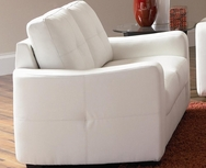 White Bonded Leather Upholstered Love Seat 502712