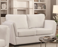White Bonded Leather Upholstered Small Love Seat 503688