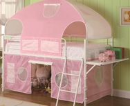 White & Pink Tent Bunk Bed 460202