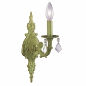 1-Arm Scroll Green Wall Sconce