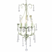 3-Arm Pear Soft Green Chandelier