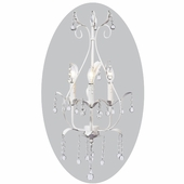 3-Arm Pear White Chandelier