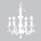 4-Arm Fountain White Chandelier