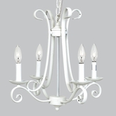 4-Arm Harp White Chandelier