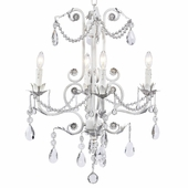 4-Arm Valentino White Chandelier