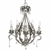 5-Arm Caesar Pewter Chandelier