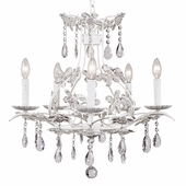 5-Arm Cinderella White Chandelier