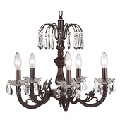 5-Arm Water Fall Mocha Chandelier