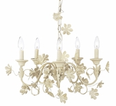 5-Light Ivory Flower Garden Chandelier
