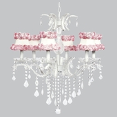 6-Light Glitz Chandelier with Ring of Roses Shades