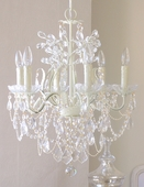 6-Light Ivory Crystal Chandelier