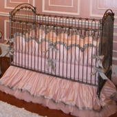 Alexa Silver Crib Bedding