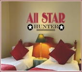 All Star Custom Personalized Wall Decal