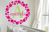 Amanda's Dots Custom Personalized Wall Decal