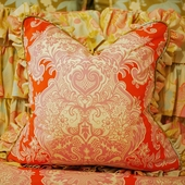 Amelia Damask Throw Pillow